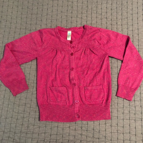 e594a7826f4 Cherokee Other - Girls pink w sparkle thread button up cardigan